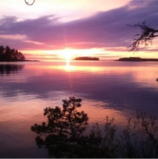 Zachód słońca w Szwecji