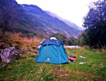 camping pod lodowcem