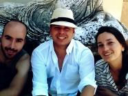 selfie z WłóczyKIJA - Theo, Cezarkos, Caroline