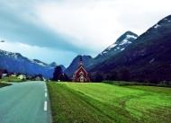 kościółek z drewna