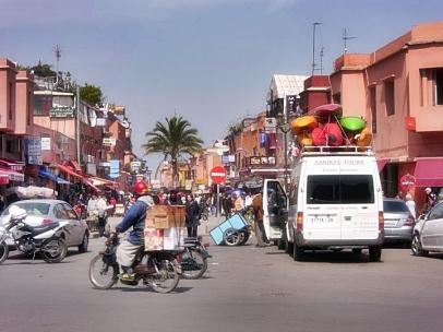 zwykła ulica w Maroku