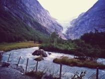 Brikdsdalbreen - jęzor lodowca