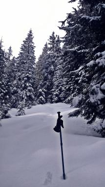 i metrowym śniegiem