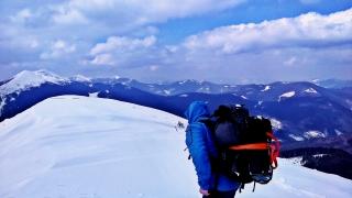 trekking przez Gorgany, zima 2016