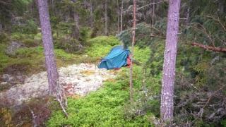 kilkaset kilometrów dalej, rozstawiłem namiot drugiej nocy i czekałem
