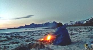 Fredvang - czwarty nocleg na plaży