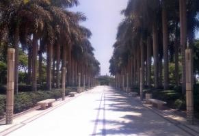 park Al-Azhar - jedno z niewielu zielonych miejsc w Egipcie