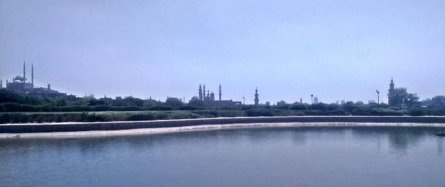 widok na cytadele i meczet Salah Ad-Din