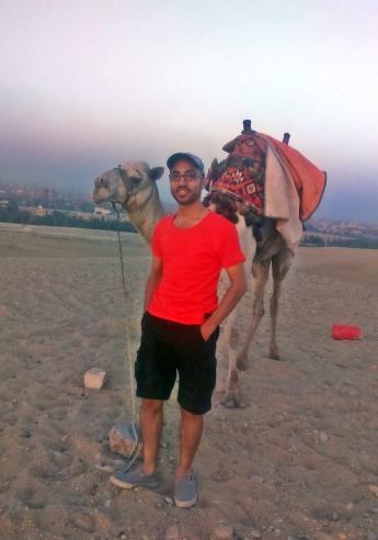Ahmed, kolega z którym pojechałem do Kairu