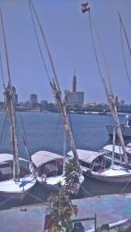 łódki na Nilu