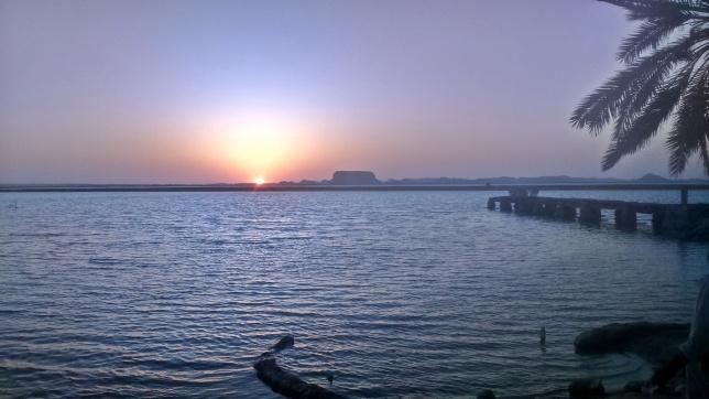 zachód słońca nad Fatnas spring