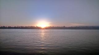 zachód słońca nad Nilem