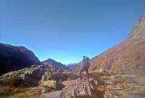 hiker w Alpach Bergamskich