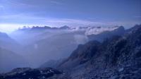 chmury nad Alpami Bergamskimi