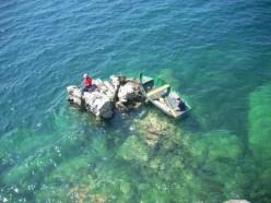 turkusowa woda jeziora Ohrid