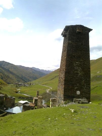 wieże w Ushguli, Swanetia, Gruzja