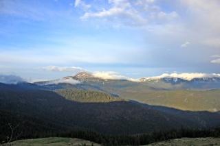 pasmo Czarnohory widziane z południowego zachodu