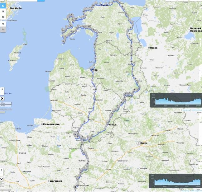 mapa kraje bałtyckie