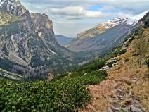 widok na dolinę Białej Wody po 4 h trekkingu