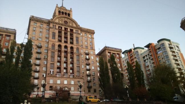 budynki na Chreszczatyku - głównej arterii Kijowa