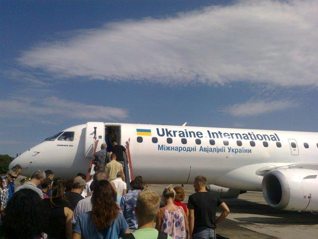 samolot ukraińskich linii lotniczych