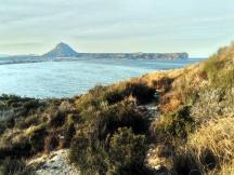 widok z Cap Prim na góry Montgo