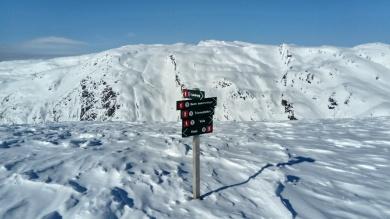 znaki na szlaku w Norwegii nie podają czasu przejścia!
