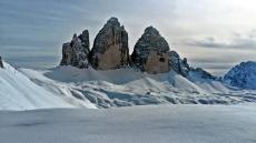 Tre Cime di Laveredo, zimą
