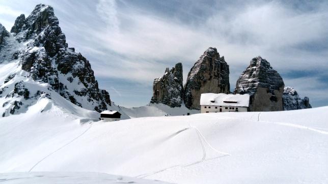 Tre Cime di Laveredo, widok ze schroniska