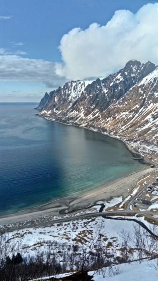 Ersfjorden, Senja, Norwegia