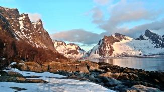 Ersfjord w magic hour, Senja, Norwegia