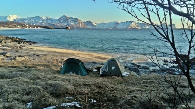 biwak pod Skaland, Senja, Norwegia