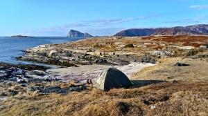 biwak na Sommaroy, Norwegia