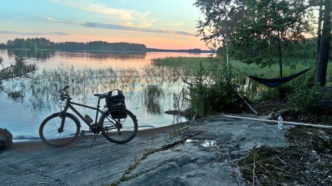 relaks nad jeziorem Saimaa, koło Lappeenranty