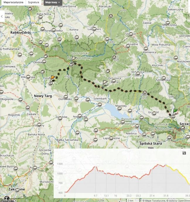 mapa Gorce