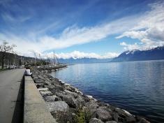 jezioro Genewskie i Alpy