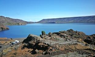 Keifarvatn - znikające jezioro