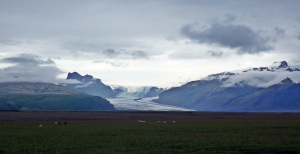 pola przed lodowcem Vatnajökull