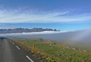 Breiðdalsvík w chmurze