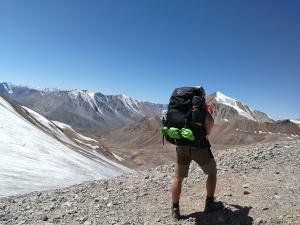 przełęcz Turystów 3960 m npm, góry Tien Szan