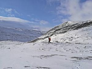zima na przełęczy Tjäktja