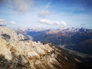 panorama Dolomitów - oddali masyw Marmolady