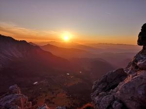 zachód słońca z ferraty Masare