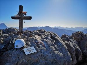 krzyż na trasie ferraty Bepi Zac