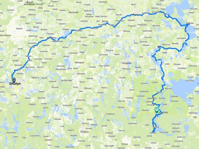 mapa mazury
