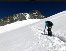 trawers góry - początek wspinaczki
