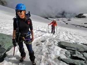 Marta i Kamil na lodowcu