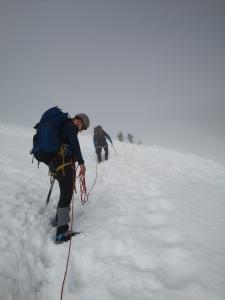 na lodowcu we mgle