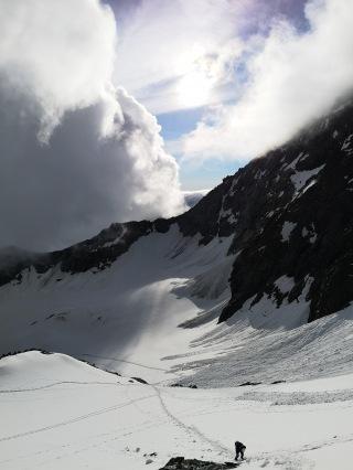 lodowiec widziany z grani