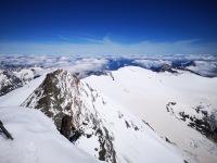 widok ze szczytu Grossglockner na okoliczne góry
